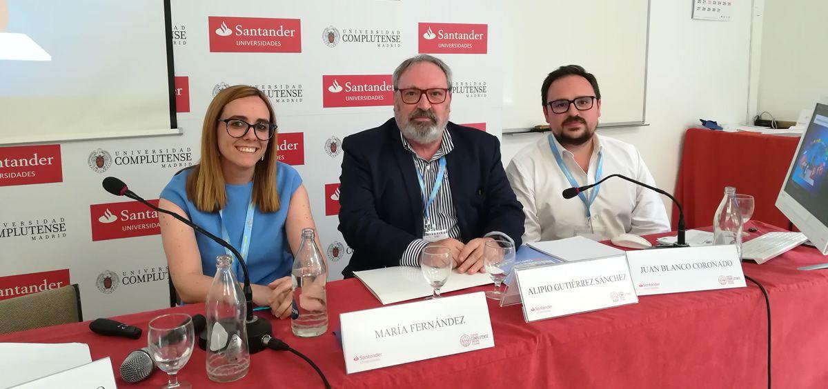De izquierda a derecha: Celia Gilpérez, Juan Blanco y Sergio Blanco (Foto: Juanjo Carrillo Córdoba - ConSalud.es)