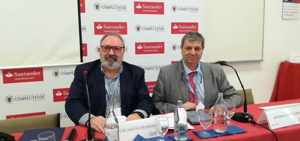 Juan Blanco y Antonio López Farré, durante la inauguración del Curso de Verano de El Escorial (Foto: Juanjo Carrillo Córdoba - ConSalud.es)