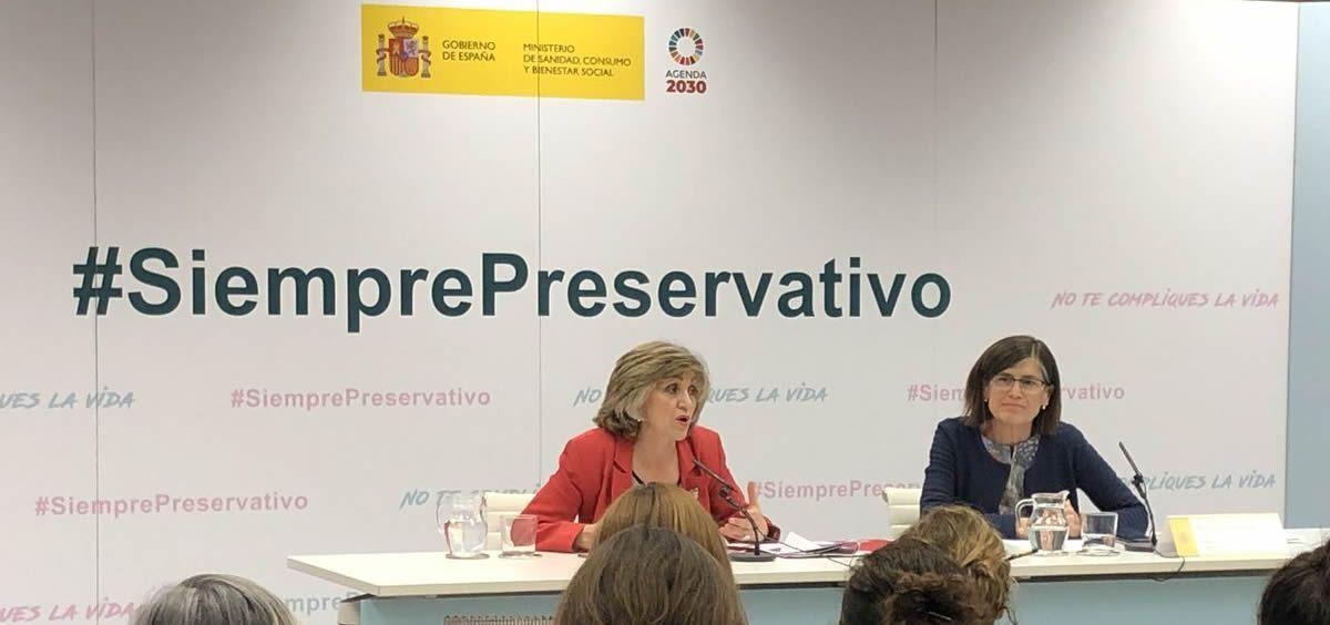 La ministra de Sanidad, Consumo y Bienestar Social, María Luisa Carcedo. (Foto. @sanidadgob)