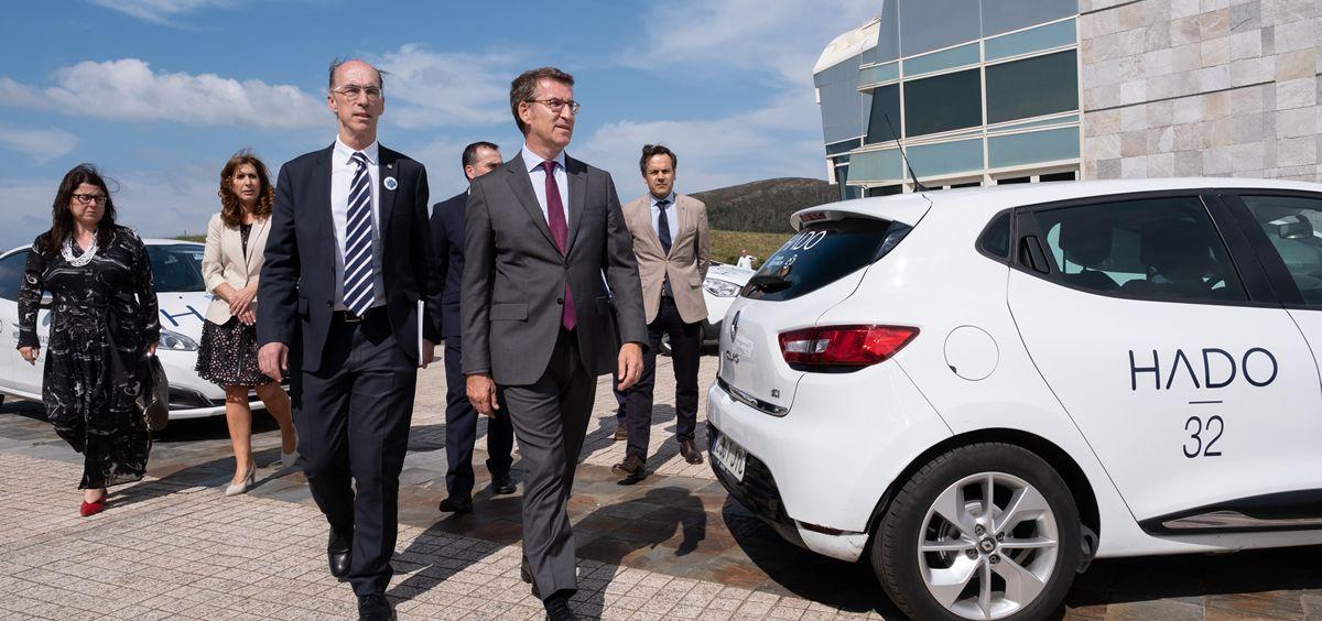 El consejero de Sanidad, Jesús Vázquez Almuiña y el presidente del  Gobierno gallego, Alberto Núñez Feijóo. (Foto. Xunta)