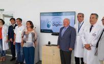 Jesús Aguirre en su visita al Hospital Universitario Virgen Macarena (Foto. ConSalud)