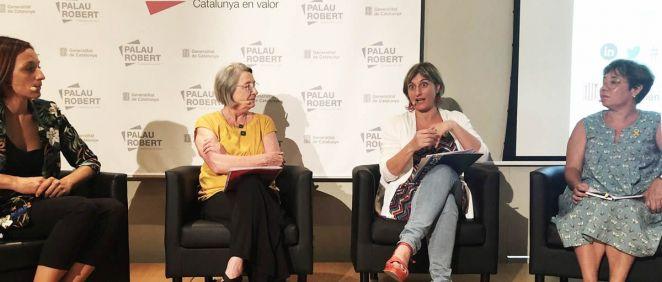 Alba Vergés en la presentación dell nuevo Observatorio de la Muerte (Foto. Generalitat de Cataluña)