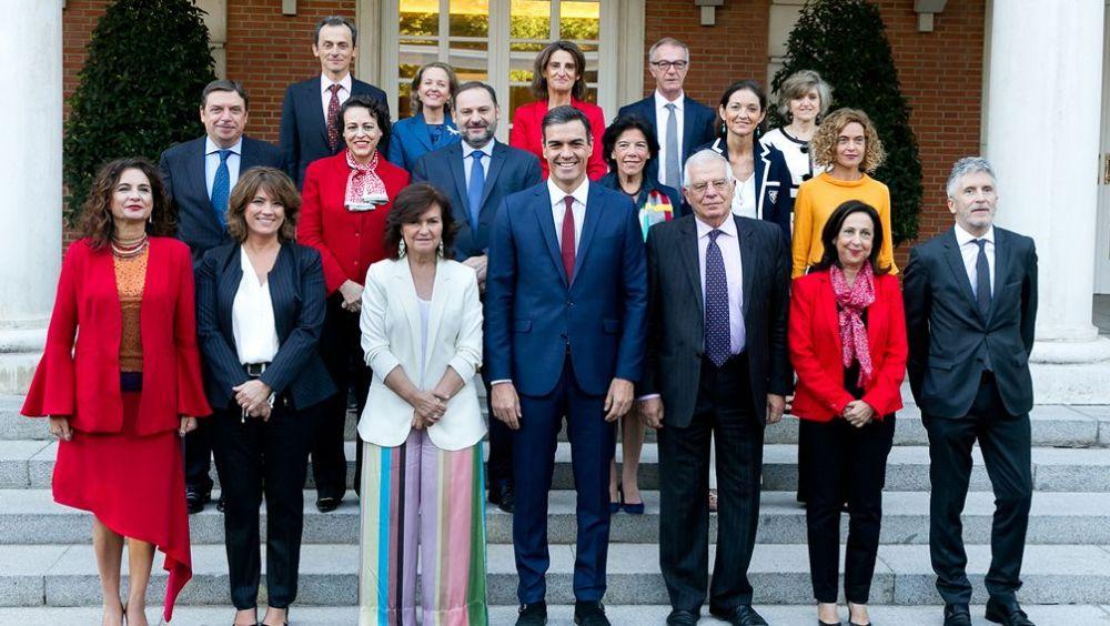Foto de grupo del Consejo de Ministros, en el Palacio de La Moncloa (Foto: La Moncloa)
