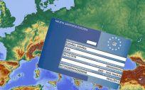 Tarjeta Sanitaria Europea (Montaje. ConSalud.es)