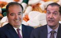 De izq. a dcha.: Sergio Rodríguez, director general de Pfizer en España; y Javier Anitua, director general de Mylan en España.