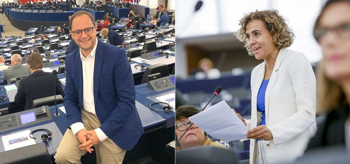 César Luena y Dolors Montserrat, diputados de PSOE y PP en el Parlamento Europeo (Foto: Montaje ConSalud.es)