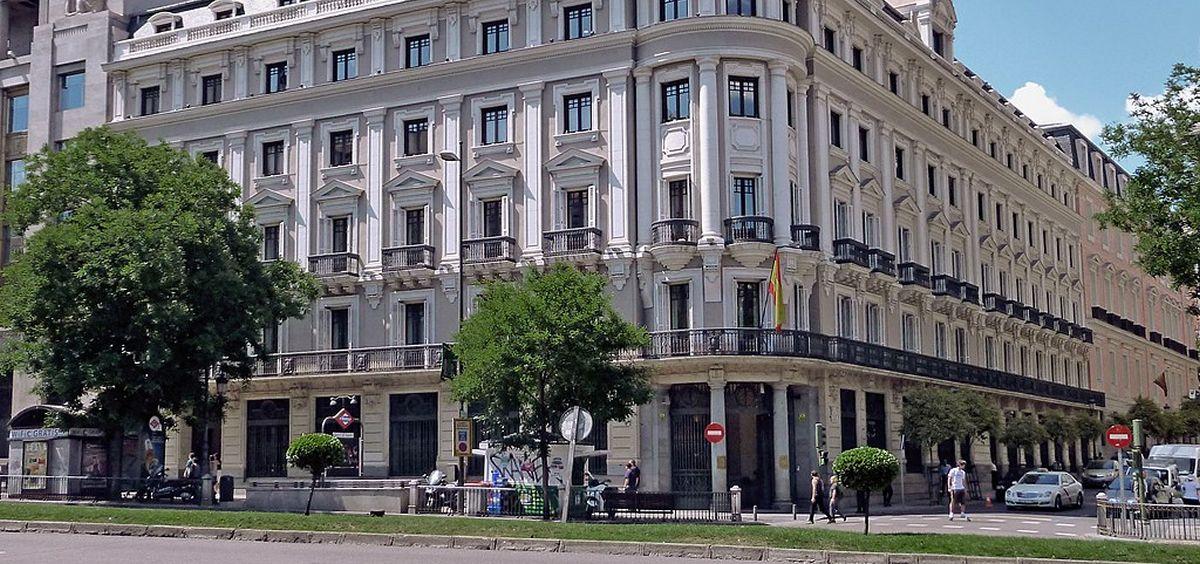 Sede la Comisión Nacional de los Mercados y la Competencia situada en la calle Alcalá en Madrid. (Foto. Wikipedia)
