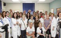 Enrique Ruiz Escudero, en su visita al Hospital Gregorio Marañón de Madrid (Foto. Comunidad de Madrid)