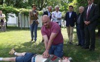 Recreación de la asistencia (Foto. Xunta de Galicia)