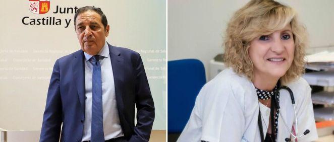 El exconsejero de Sanidad de Castilla y León Antonio María Saéz Aguado; y Verónica Casado, la nueva consejera. (Foto. Fotomontaje ConSalud)