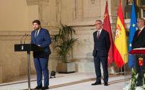 Fernando López Miras, durante la toma de posesión como presidente del Gobierno de la Región de Murcia. (Foto @regiondemurcia)