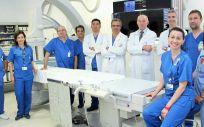 Miembros de la Unidad de Radiología Vascular Intervencionista (Foto. ConSalud)