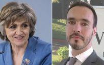 La ministra de Sanidad, María Luisa Carcedo, y el director general de Vertex España,  Humberto Stefanutti (Foto. Fotomontaje ConSalud.es)