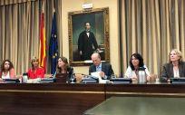 La Mesa de la Comisión de Sanidad, Consumo y Bienestar Social de la anterior legislatura. (Foto: @Marina_Ortega_)