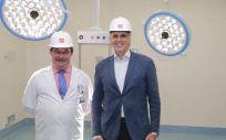 Domingo del Cacho, director gerente del Hospital Severo Ochoa; y Enrique Ruiz Escudero, consejero de Sanidad de la Comunidad de Madrid. (Foto. ConSalud)