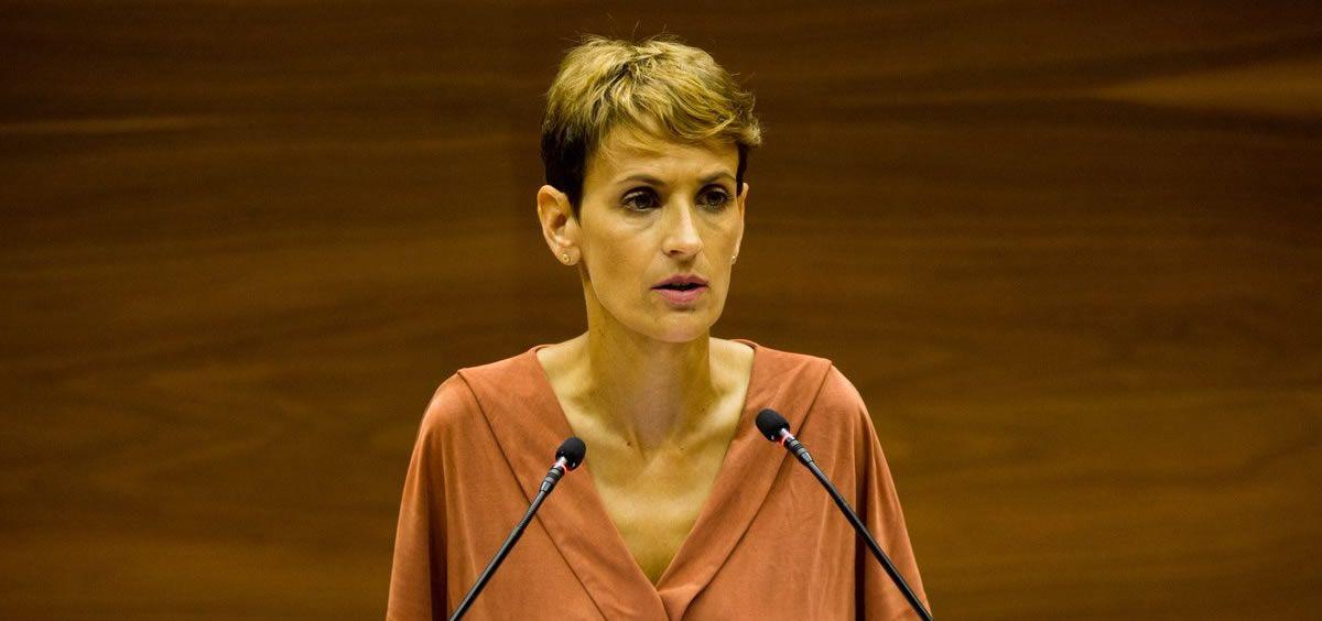 María Chivite, presidenta de la Comunidad Foral de Navarra (Foto. @parlamentoNA)