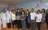 Los investigadores durante su visita (Foto. La Rioja)