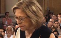 Pilar Ventura en el acto de toma de posesión como consejera de Sanidad de Aragón