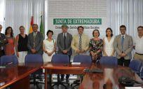 Foto de la presentación de los nuevos responsables (Foto. Junta de Extremadura)