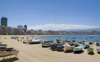 Playa de Las Canteras en Las Palmas de Gran Canaria (Foto. Turismo de Gran Canaria)