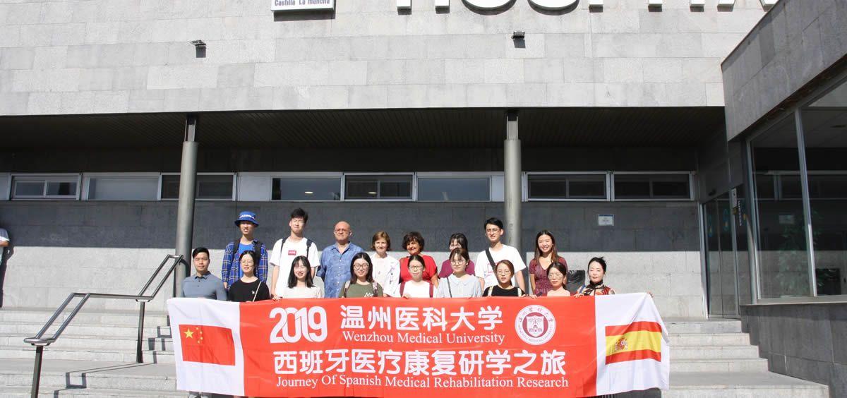 Estudiantes chinos en su visita a Cuenca (Foto. Sescam)