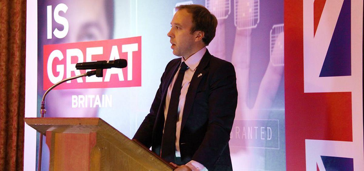 El secretario de Estado para la Salud de Reino Unido, Matt Hancock (Foto. Gobierno de Reino Unido)