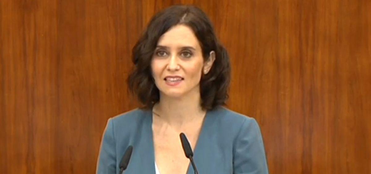 Isabel Díaz Ayuso, candidata del PP a la presidencia de la Comunidad de Madrid (Foto. Asamblea de Madrid)