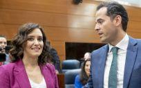 Isabel Díaz Ayuso (PP) e Ignacio Aguado (Ciudadanos) (Foto: Flickr PP de Madrid)