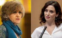 María Luisa Carcedo, ministra de Sanidad en funciones, e Isabel Díaz Ayuso, presidenta de la Comunidad de Madrid (Montaje ConSalud.es)