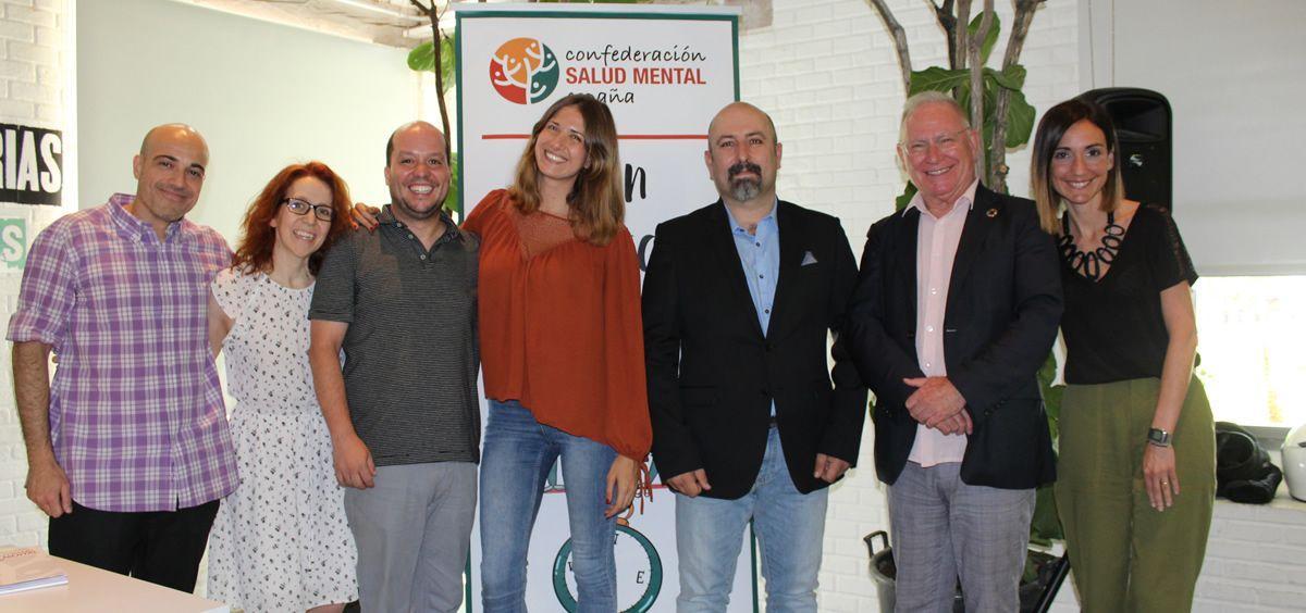Equipo encargado de liderar la elaboración del Plan Estratégico (Foto. Confederación Salud Mental España)