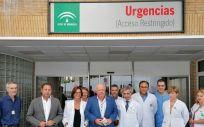Jesús Aguirre en su visita a las Urgencias del Hospital General del Virgen del Rocío de Sevilla (Foto. Junta de Andalucía)