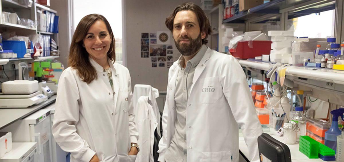 Alejo Efeyan, jefe del Grupo de Metabolismo y Señalización Celular del CNIO, y Ana Ortega Molina, primera autora del estudio (Foto. CNIO)