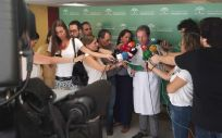 Rueda de prensa de la Consejería de Salud y Familias sobre la listeria (Foto. Twitter Salud y Familias)