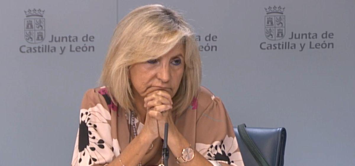 Verónica Casado, consejera de Sanidad de Castilla y León, tras el Consejo de Gobierno (Foto: JCYL)