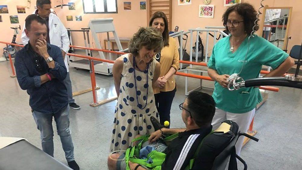 Carcedo apoya a las personas con discapacidad en el C.A.M.F. de Leganés
