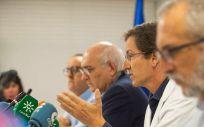 Rueda de prensa sobre la actualización del brote de listeriosis en Andalucía. (Foto. Consejería de Salud de Andalucía)