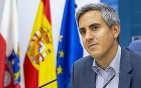 El vicepresidente durante la rueda de prensa (Foto. Nacho Romero)