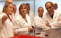 Alba Vergés, consejera de Salud, y Quim Torra, presidente de la Generalitat de Cataluña (Foto. @salutcat)