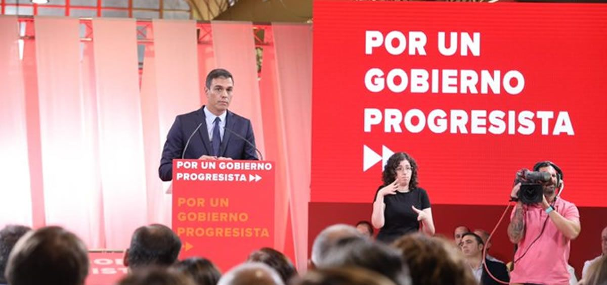 Pedro Sánchez, durante la presentación del Programa por un Gobierno Progresista. (Foto: ConSalud.es)