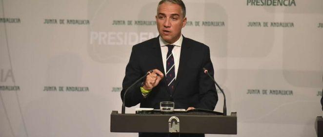 Elías Bendodo, consejero de la Presidencia (Foto. Twitter Junta de Andalucía)
