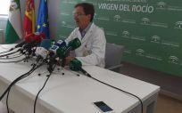 El portavoz del gabinete técnico creado por la Consejería de Salud y Familias para el seguimiento del brote de listeriosis, José Miguel Cisneros