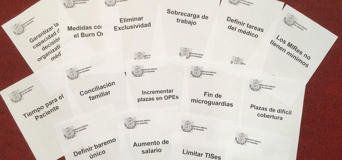 Demandas expuestas por el Sindicato Médico de Navarra. (Foto. SMN)