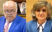 Jesús Aguirre, consejero de Salud de Andalucía, y María Luisa Carcedo, ministra de Sanidad en funciones. (Fotomontaje ConSalud)