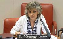 María Luisa Carcedo, ministra de Sanidad en funciones, interviene en la Comisión de Sanidad del Congreso (Foto: @gpscongreso)