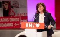 Carmen Calvo, vicepresidenta del Gobierno y secretaria de Igualdad del PSOE (Foto. PSOE)