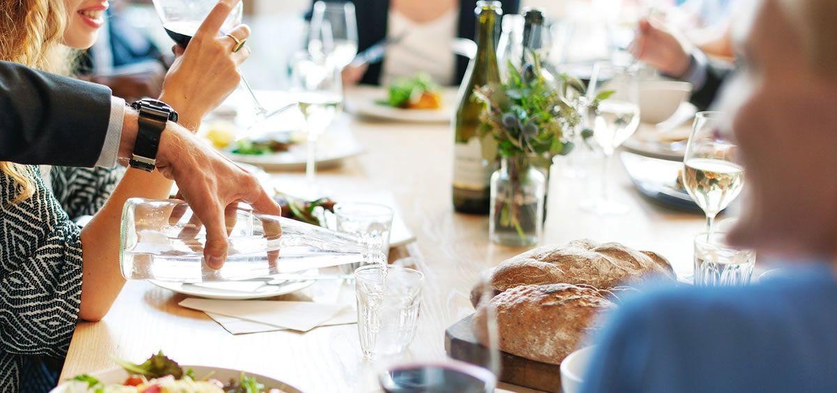 Imagen de una comida en un restaurante. (Foto. Rawpixel)