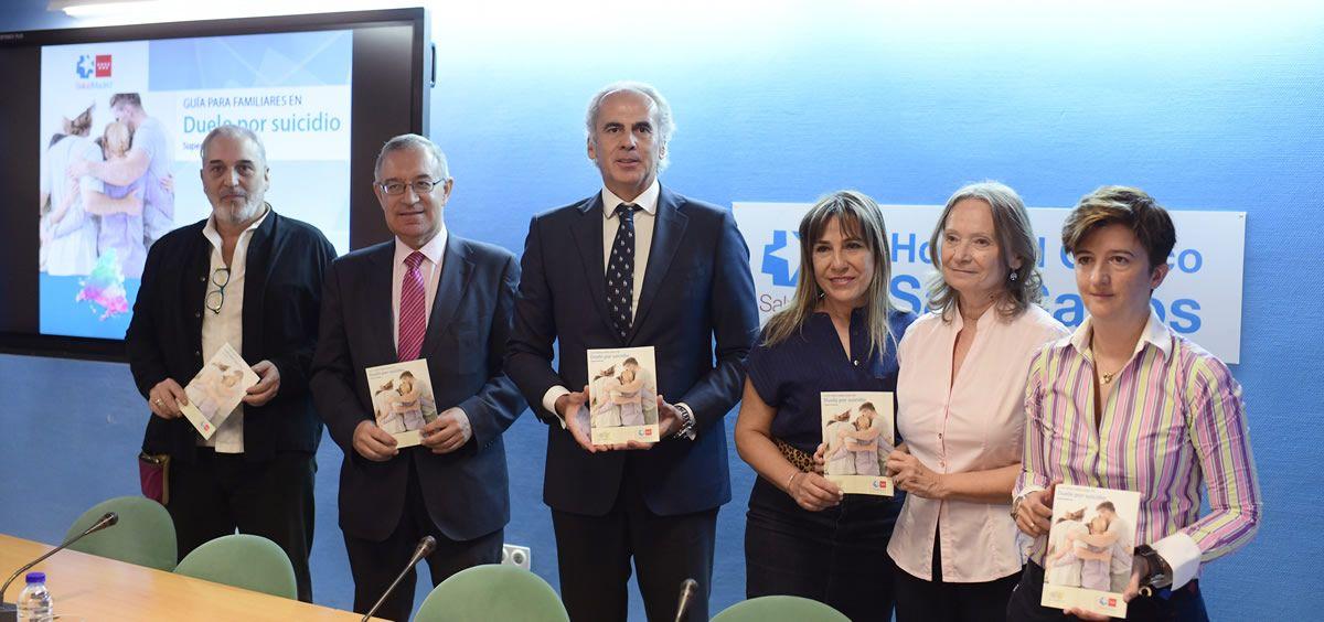 Enrique Ruiz Escudero, durante la presentación de la Guía de Autoayuda para familiares en duelo por suicidio. (Foto: ConSalud)