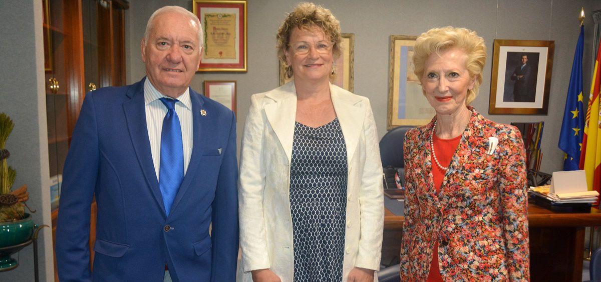 Florentino Pérez Raya, Alison Roots y Pilar Fernández (Foto. Consejo General de Enfermería)