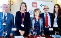 La ministra de Sanidad, María Luisa Carcedo, durante la inauguración de las jornadas  'En un mundo global las vacunas cuentan'. (Foto. Ministerio de Sanidad)