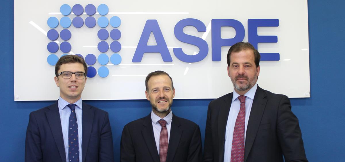 Luis Mendicuti, David Medina y Carlos Rus, miembros de ASPE (Foto. ConSalud)